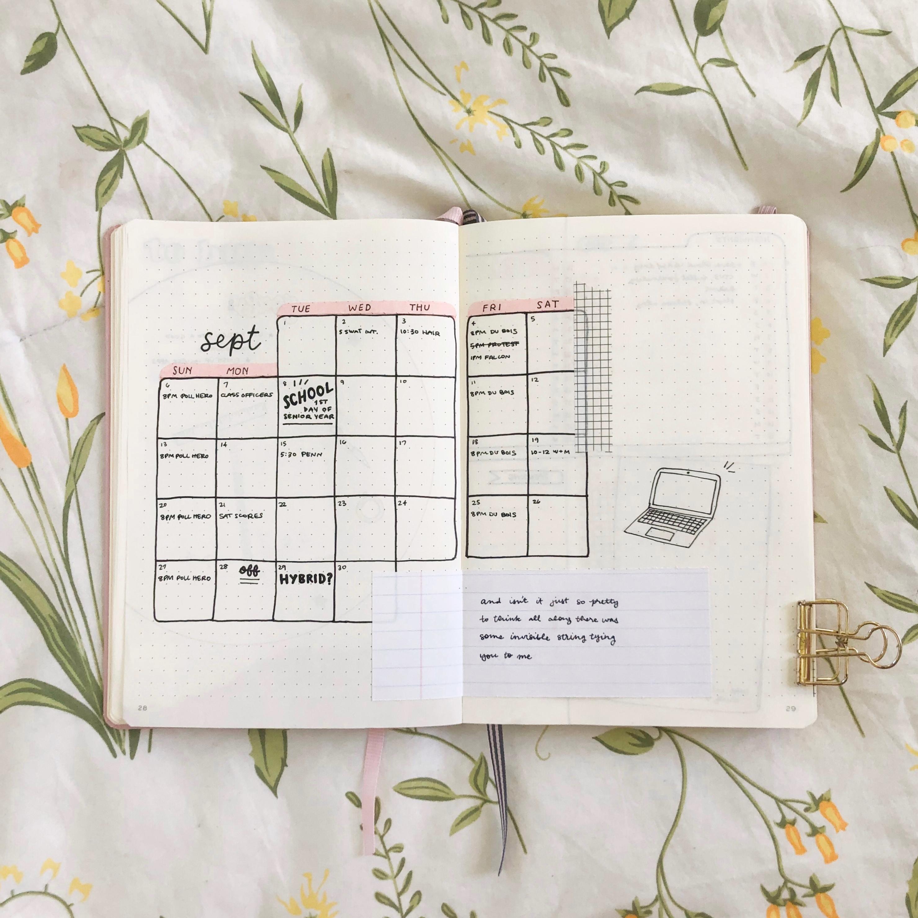 September monthly spread